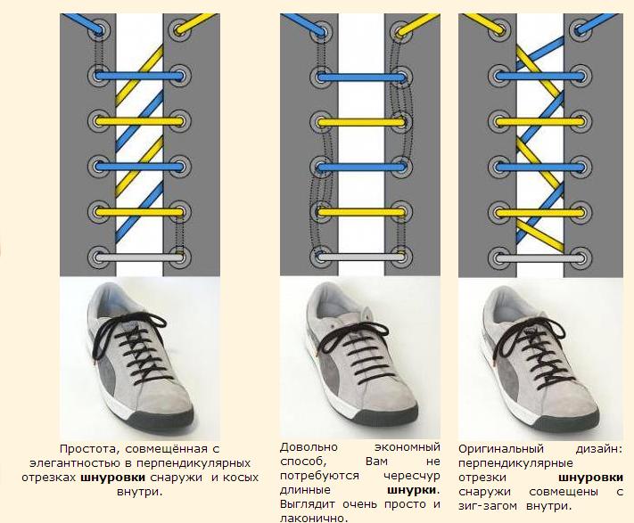 Как на ботинках сделать шнурки 422